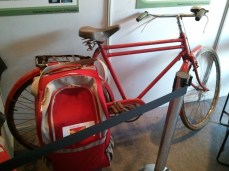 IDC students idea for a bike luggage carrier for Indian Post