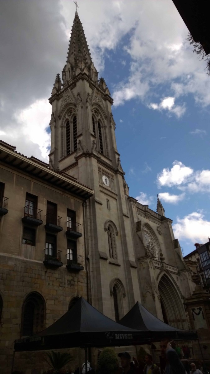 Photograph of a church in Bilbao Old Town