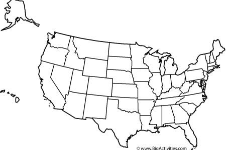 map of the united states with le and states coloring