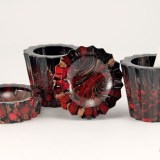 Beautiful and rare set of Italian art glass smoking accessories.