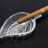 Decorative & discreet single cigar rest ashtray.