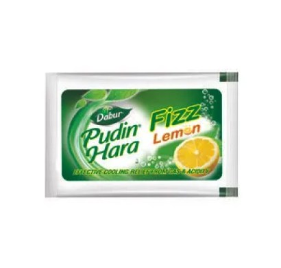 Dabur Pudin Hara - Lemon Fizz 5 gm Pack of 6