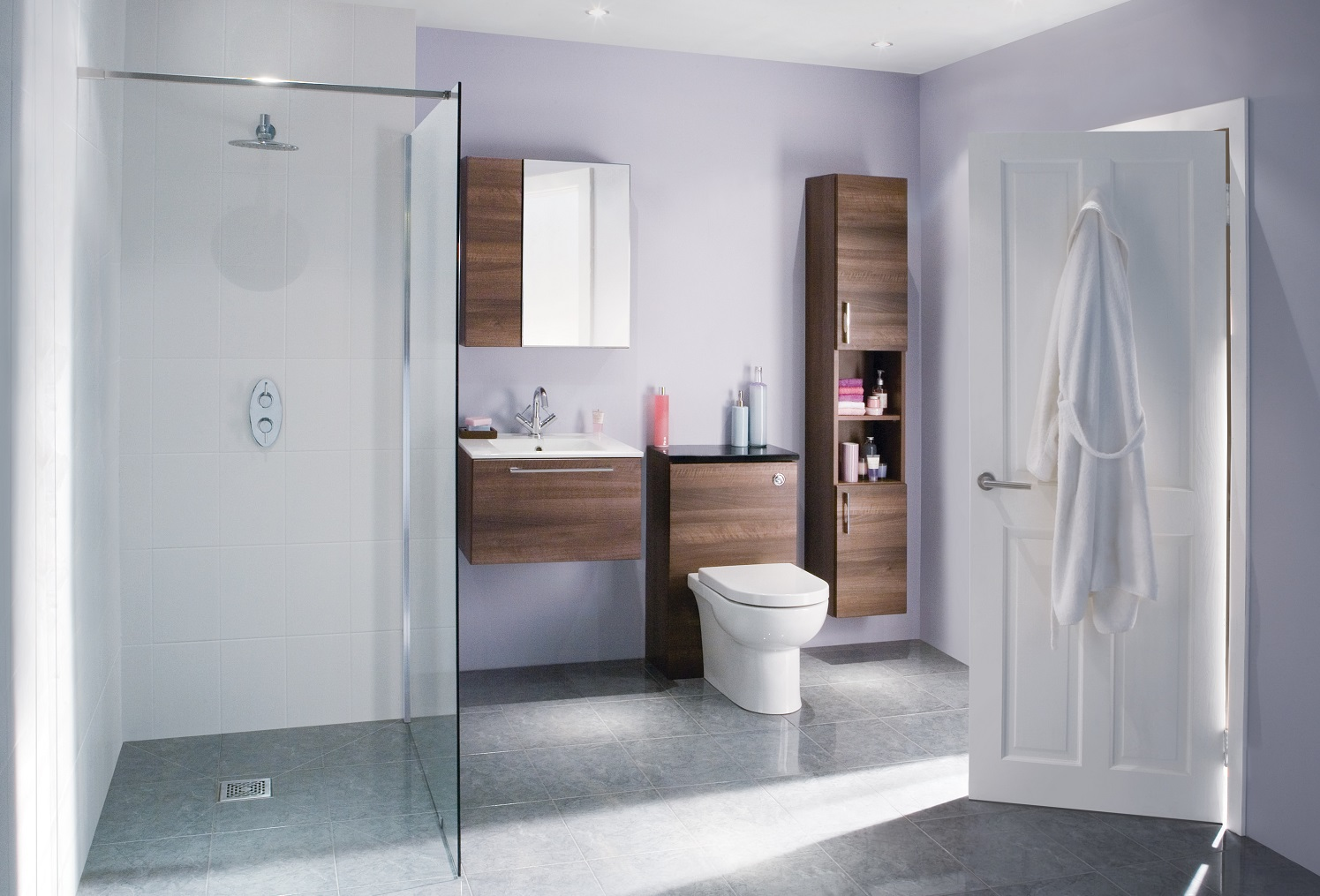Popular Rest Wet Rooms A Wet Room Is Where Shower Is Completely Open Hasa Essential Guide To Walk Shower Isflush Bathroom Shower Area Showers houzz-03 Wet Room Bathroom