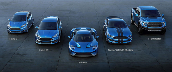00 Ford Performance lineup