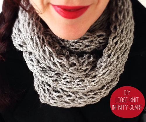 Knitting Patterns For Beginners Infinity Scarf : How to Make 41 Easy and Fun Infinity Scarves & Wear Them - Big DIY IDeas