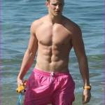 Alexander Ludwig shirtless in Hawaii
