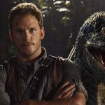 Chris Pratt Gets Photobombed By A Velociraptor In A New Jurassic World Pic