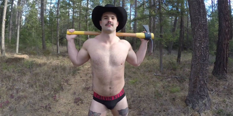 Apropos Of Nothing: Out Aussie Bobsledder Simon Dunn Strips Down To His Underwear & Lip-synchs For His Life