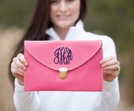 Monogrammed Crossbody Clutches