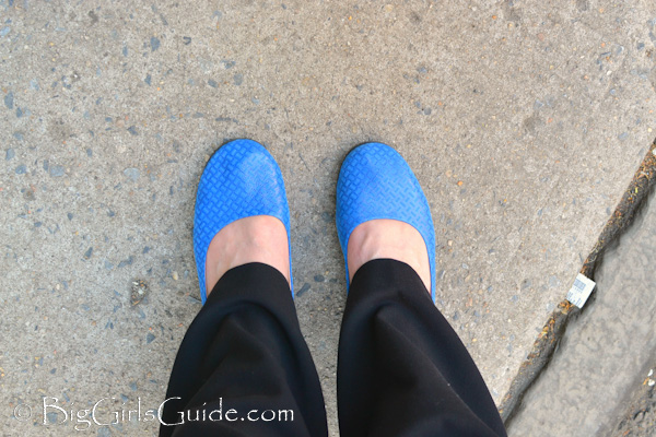 french sole royal blue flats