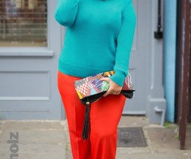 Luxury plus size designer Anna Scholz has curated a burst of bright in her capsule collection 'Colour Pop'