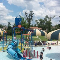 Rob Fleming Park and Pool in The Woodlands... Beach Entry, Slides and Lazy River!