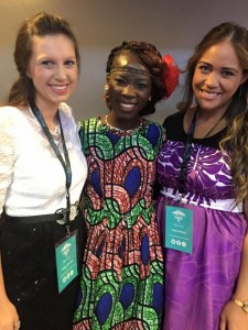 Our very own Kaloni Jensen Taeja Afalava, millennial leaders in the movement with friend Debora