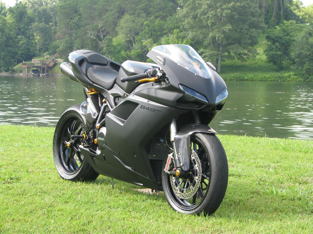black stealth 2012 ducati 848 evo custom front right bike urious. Black Bedroom Furniture Sets. Home Design Ideas