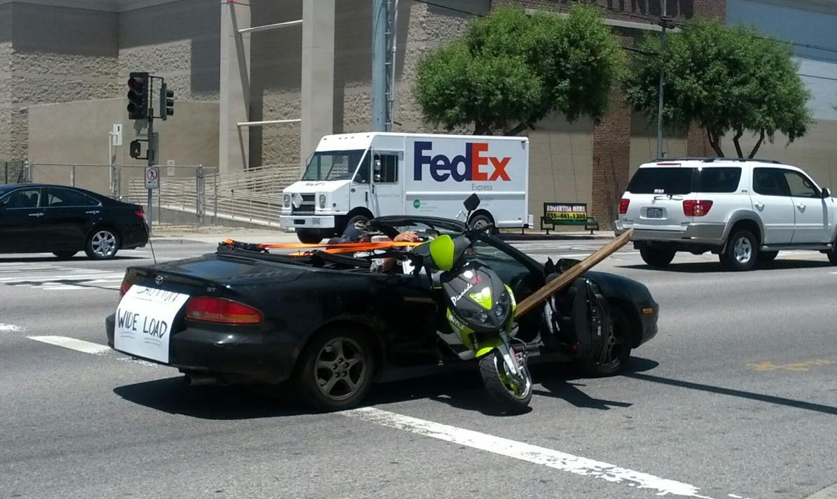 Picture Intermission - How Not To Transport a Scooter