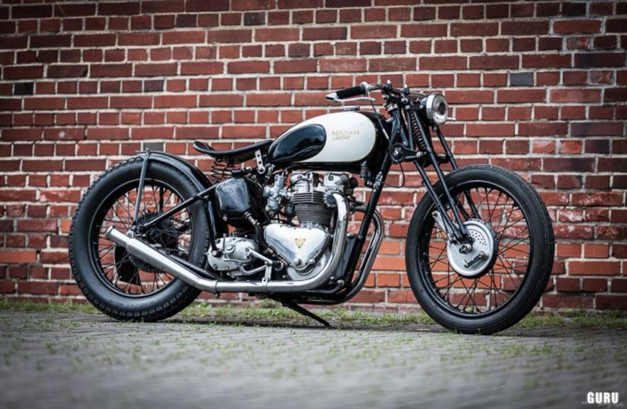 In Germany - 1953 Triumph Speed Twin 5t Custom