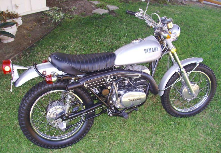 A legend is born 1972 yamaha 360 enduro bike urious for Yamaha 360 enduro