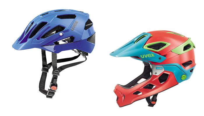 All mounatin a enduro cyklistické helmy Uvex