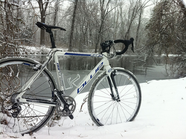 Snow Biking! by mkellyxp via Flickr