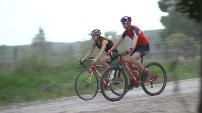 Road biking or mountain biking. Monitors just the same...