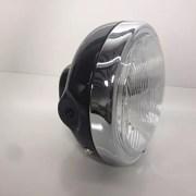 Speedmotoco-Steel-Headlight-Halogen-Complete-with-Bulb-Headlight-Cafe-Racer-0