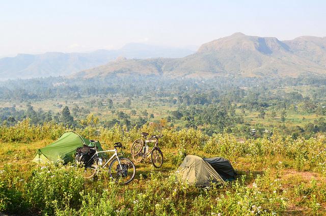 Campen auf einer Radreise