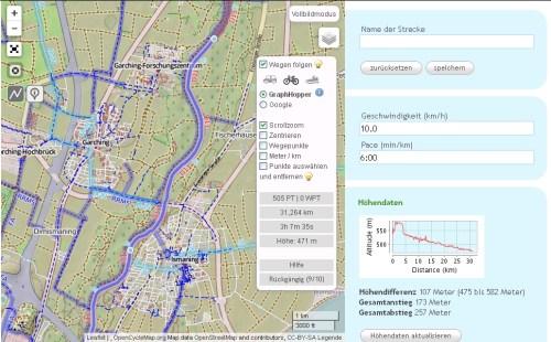 Komfortable Routenplanung mit GPSIES.com