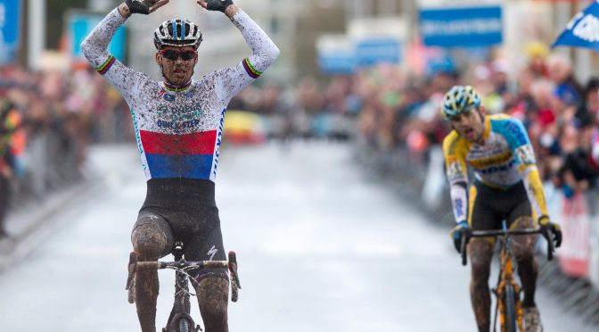 Stybar crosses the line ahead of Peeters. Photo courtesy of Photopress.be