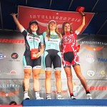 Left to right: Morgan Brown (2nd place) and Gretchen Stumhofer (1st place) at the Prairie State Intelligentsia Cycling Series - SRAM Chicago Criterium Photo Credits: Team Colavita