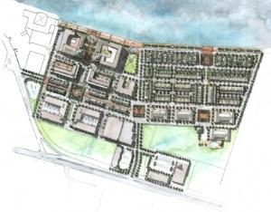 Savannah River Landing as an extension of  the Oglethorpe plan and street grid