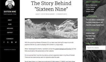 Rename the sidebars on Sixteen Nine theme
