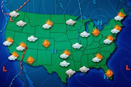 united states weather map