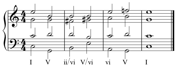 ii of vi, V of vi, vi