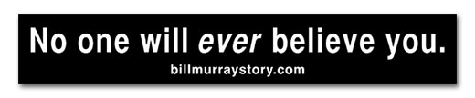 bill murray story sticker