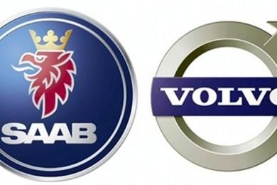 saab og volvo logo