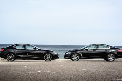 Maserati Ghibli og Jaguar XF