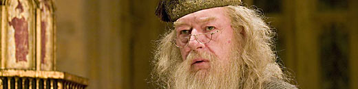 Photograph of Michael Gambon as Dumbledore