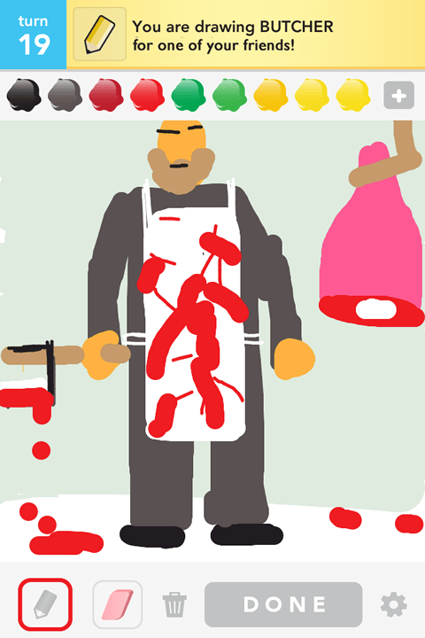 Draw Something - Butcher