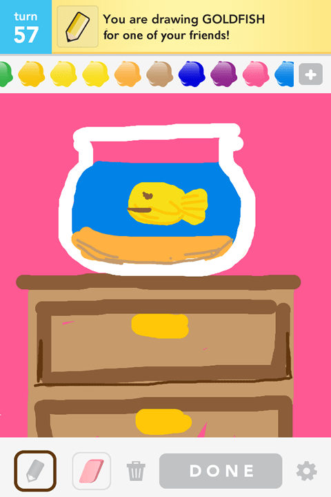 Draw Something - Goldfish