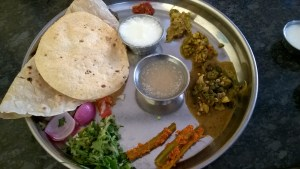 A traditional meal at Hangal