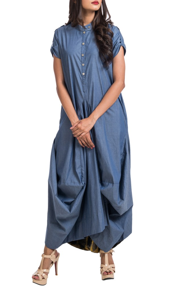 Denim Dress2-LableFree by Shaadilogy, Available at Shaadilogy.com (1)