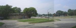 Looking northwest across the Jeffries Freeway, I-96