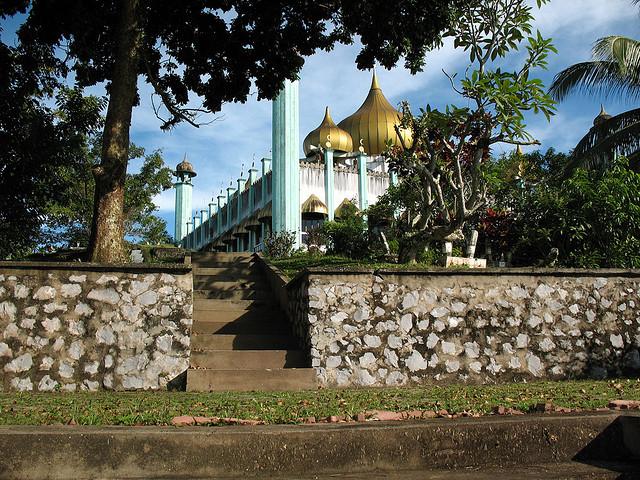 masjid bahagian from the river