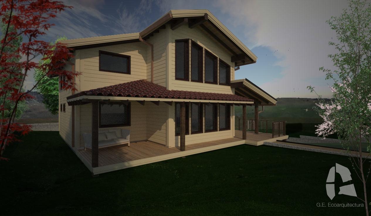 Casa bioclim tica pasiva de entramado ligero de madera - Casas entramado ligero ...