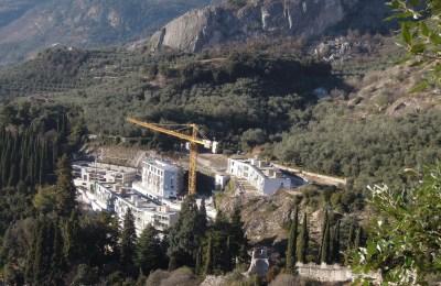 Ex argentina durante i lavori di costruzione