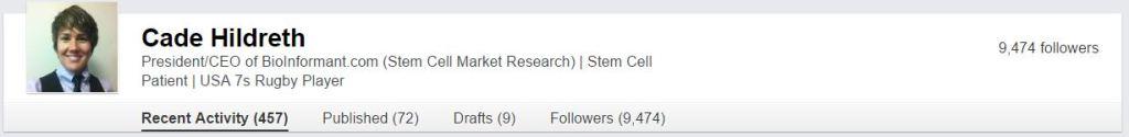 LinkedIn Follower Statistics for BioInformant