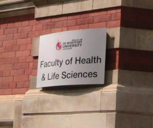 Biology courses at DeMontfort university sign