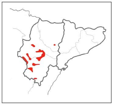 Dupont's Lark distribution map