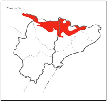 distribution map of lammergeier in Spain