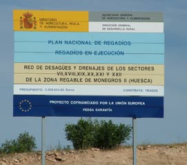 European funding for transforming the remainig drylands in the Monegros